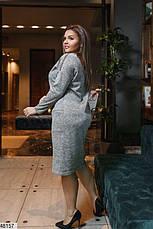 Платье женское демисезонное серое размеры: 50-62, фото 3