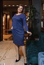 Платье женское демисезонное синее размеры: 50-62, фото 2