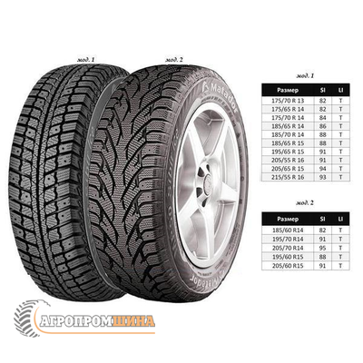Matador MP 50 Sibir Ice 185/65 R14 86T (шип), фото 2