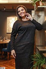Платье женское демисезонное черное размеры: 50-62, фото 2