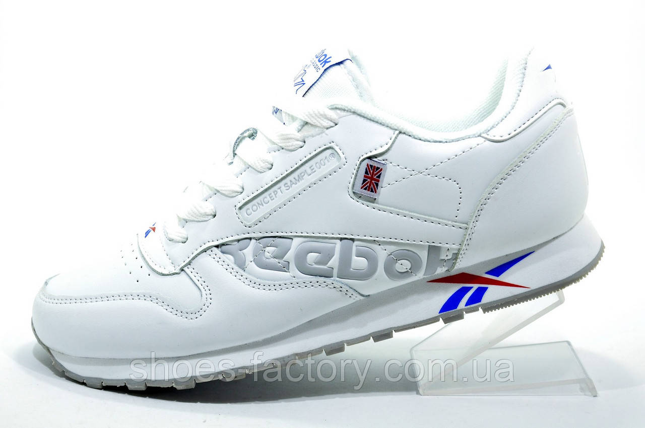 Белые кроссовки в стиле Reebok Classic Leather, White (Alter the Icons)