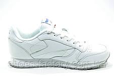 Белые кроссовки в стиле Reebok Classic Leather, White (Alter the Icons), фото 3
