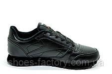 Кроссовки мужские в стиле Reebok Classic Leather, Alter the Icons, Black, фото 2