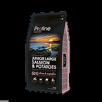 Profine Junior Large Breed SALMON 15кг лосось, профайн для щенков и юниоров крупных пород собак