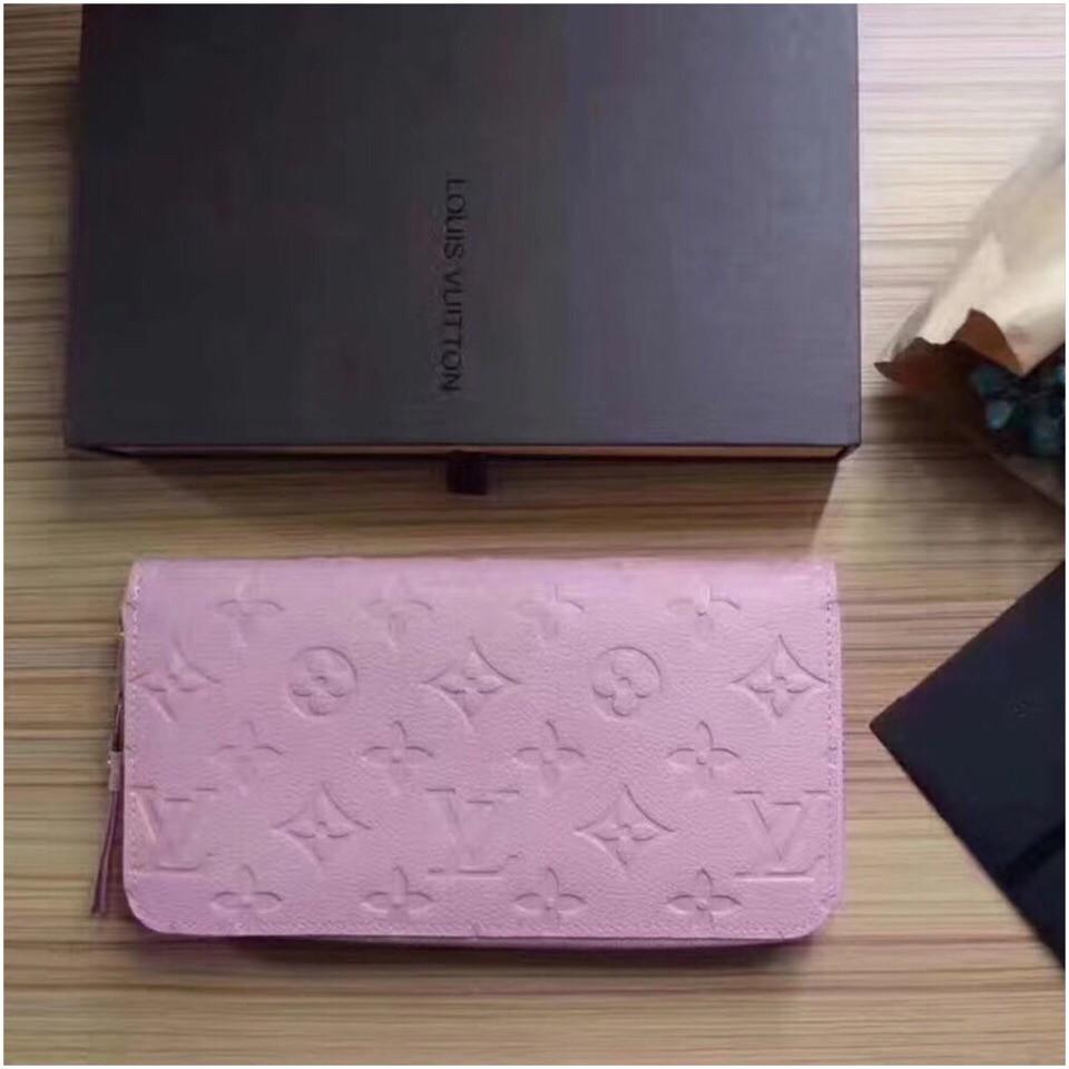 Гаманець Луї Вітон, Louis Vuitton monogram, шкіра, колір рожевий