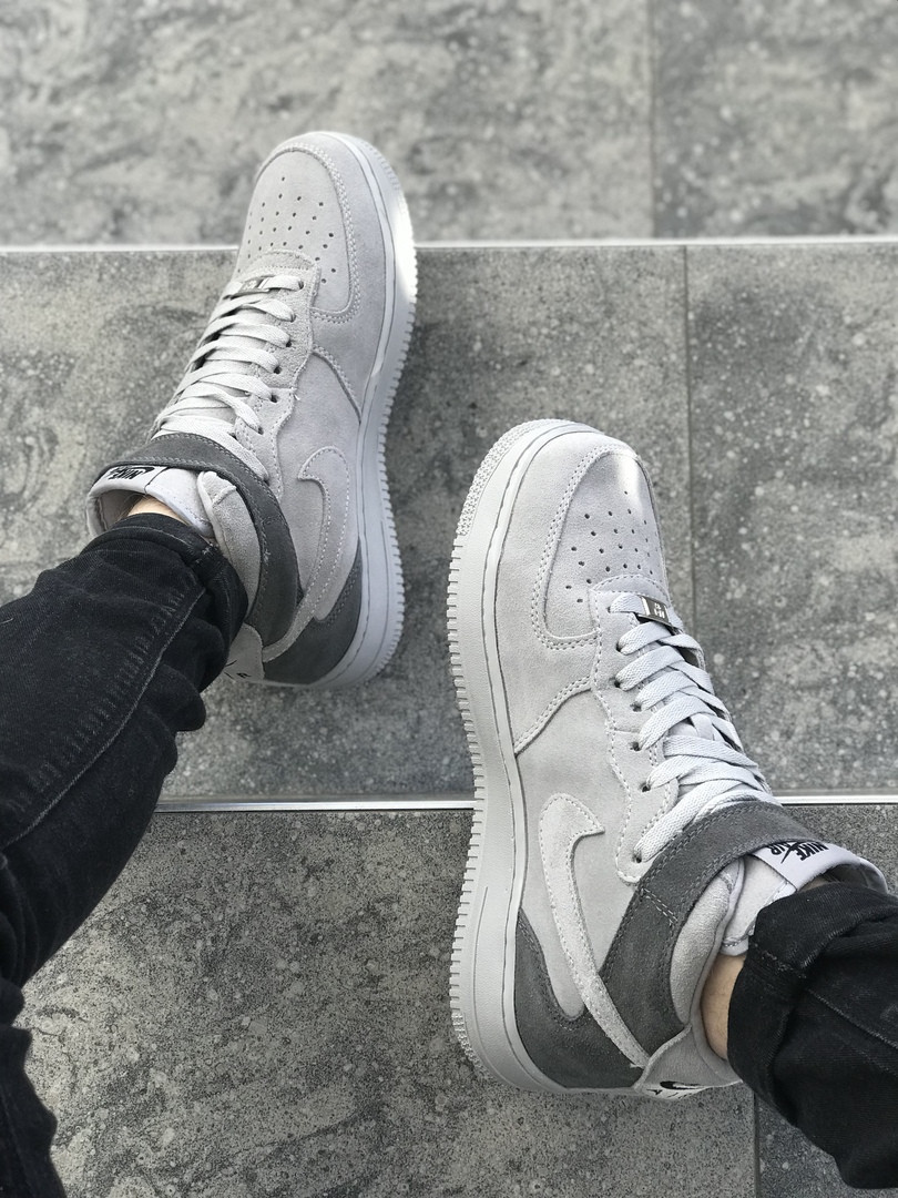 f8824196 Nike Air Force 1 Mid X Reigning Champ Grey | мужские кроссовки; серые; ...