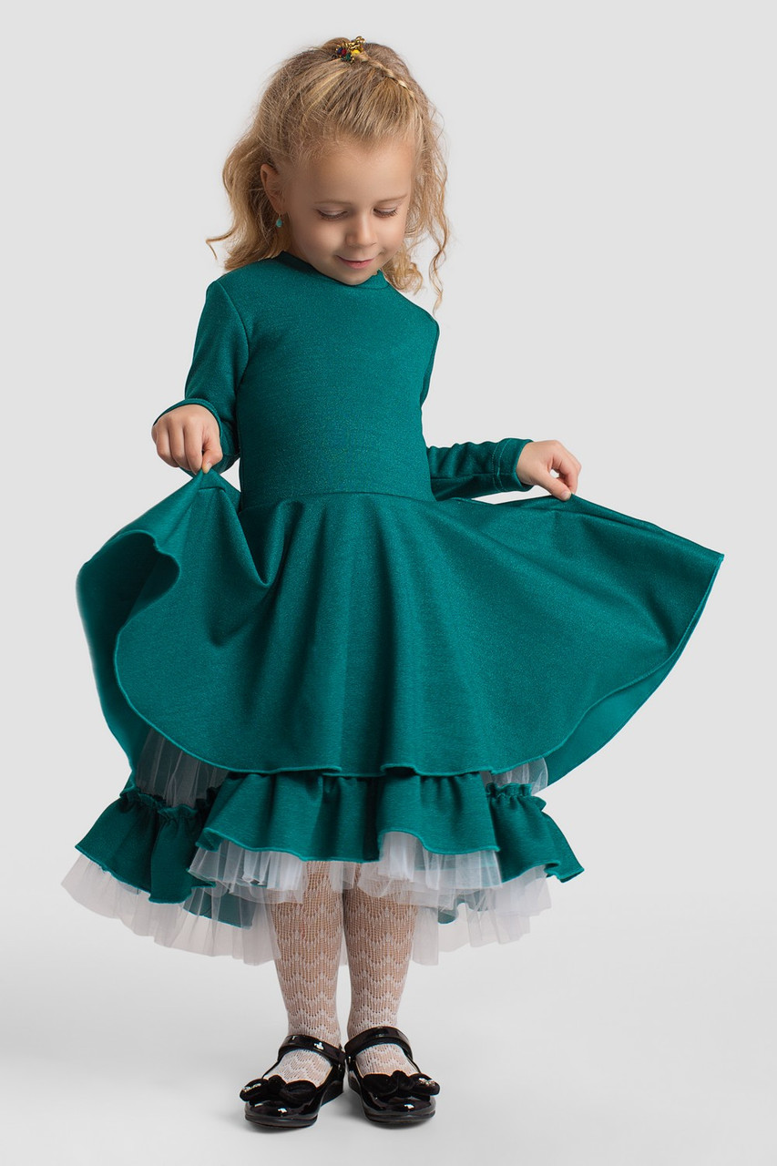 Платье LiLove 2-152 98-104 зеленый