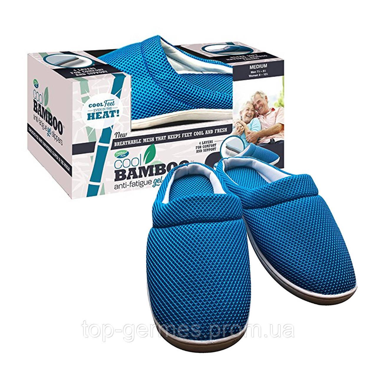 Легкие домашние тапки cool bamboo anti-fatigue gel slippers