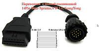 Кабель для диагностики VW LT, Mersedes Sprinter ODD 14 пин для Autocom cdp+, Delphi DS150e