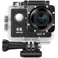 ☛Экшн-камера Lesko DV 4K H9 Black USB угол поворота 170 ° карта TF USB 12V спортивная камера WiFi