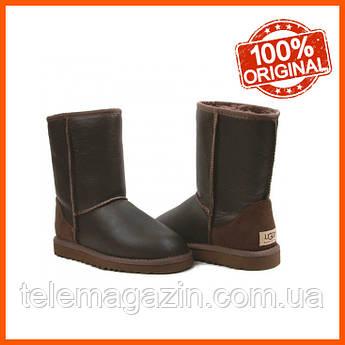 Угги мужские UGG Classic Short Metallic Brown Оригинал 42