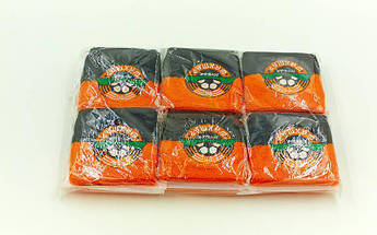 Напульсник махровый Шахтер (1шт)   (хлопок, полиэстер, безразмерный, черный-оранжевый)