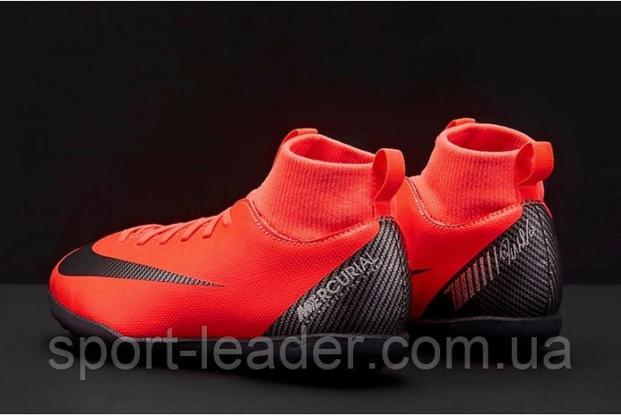 497e1a3d ... Детские сороконожки Nike Mercurial SuperflyX 6 Club CR7 TF Junior  AJ3088-600, ...