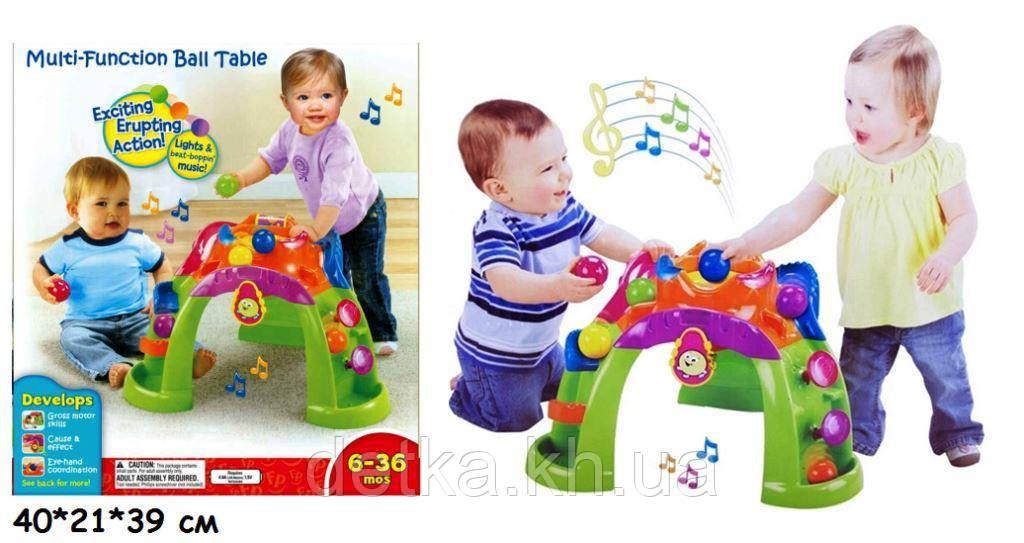 Игровой центр Play Smart 63510 стол с шариками батар.муз.свет.многофункц