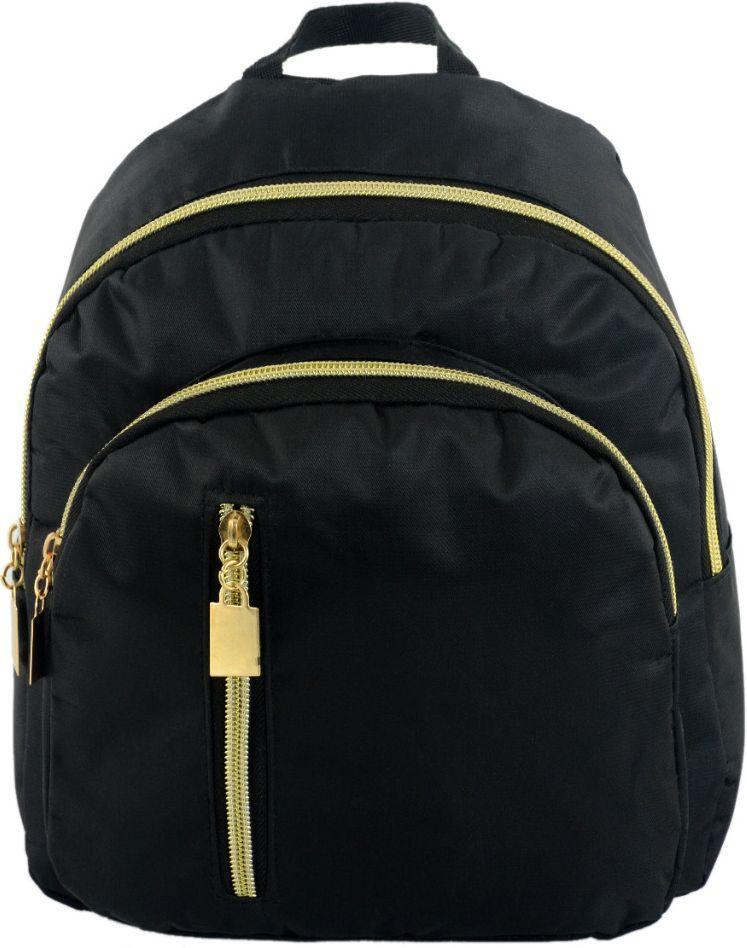 Женский городской рюкзак Traum 7224-50, нейлоновый, 5 л, черный