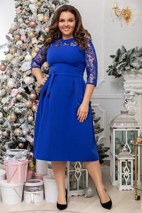Платье БАТАЛ  сетка в расцветках 68073, фото 2