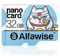 Карты памяти Alfawise 32GB Micro SD/TF / 32Гб / Class 10 / 80Мбайт/с + в подарок переходники (адаптеры)