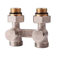Двухтрубный сдвоенный вентиль ICMA арт. 897 (нижнее подключение)