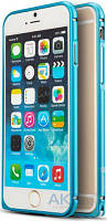 Чехол Mooke Metal Bumper Apple iPhone 6, iPhone 6S Blue