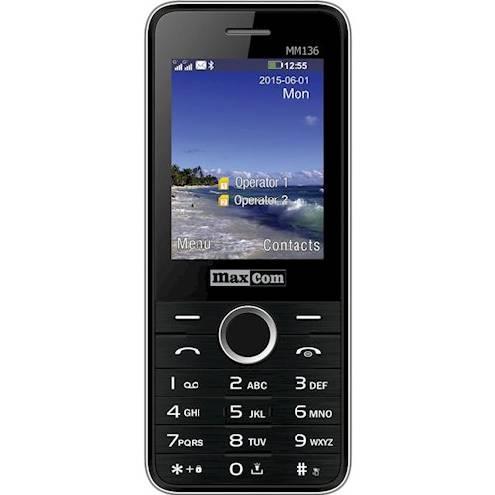 Кнопочный мобильный телефон на 2 сим карты Maxcom MM136 черный