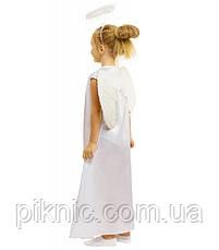 Детский костюм Ангел для девочек 6,7,8 лет. Карнавальный, новогодний, современный Ангелочка, фото 3