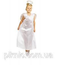 Детский костюм Ангел для девочек 6,7,8 лет. Карнавальный, новогодний, современный Ангелочка, фото 2