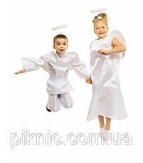 Костюм Ангела 5,6,7,8 лет Детский карнавальный новогодний современный Ангелочка для девочек 344, фото 3