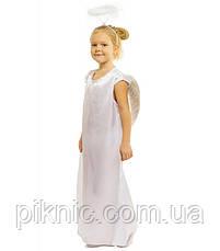 Костюм Ангела 5,6,7,8 лет Детский карнавальный новогодний современный Ангелочка для девочек 344, фото 2