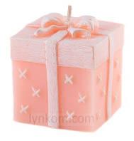 Свеча подарок 8 см Цвет персиковый, фото 1