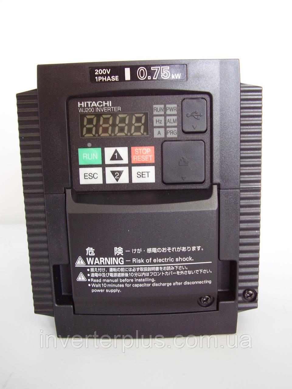 WJ200-007SF; 0,75кВт/220В. Частотный преобразователь Hitachi
