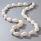 Коралл белый губчатый, бусы, 131ОК, фото 2