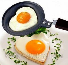 Мини-сковорода в форме сердца (тефлоновая), фото 3