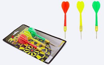 Дротики для игры в дартс каплевидные 3шт Baili (латунь, пластик, вес 6г)