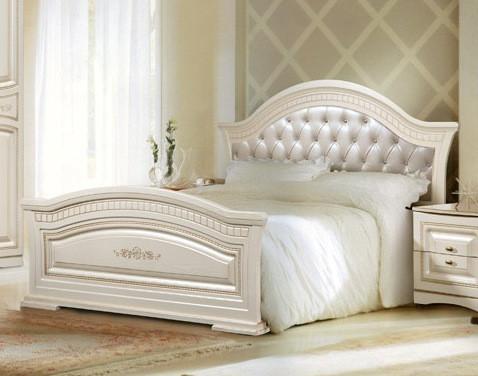 Кровать 1600х2000 с мягким изголовьем Венера СлонимМебель орех, белая