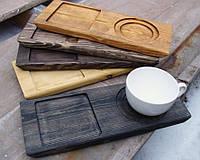 Поднос - ДОСКА для подачи кофе, размер 30х12см | Era Creative Wood