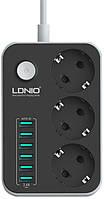 Зарядное устройство LDNIO 6 USB 3.1А  (B-T09), фото 1
