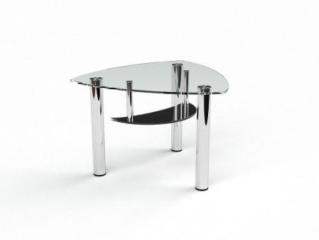 Журнальний кофейний столик зі скла у вітальню Марті БЦ-стол