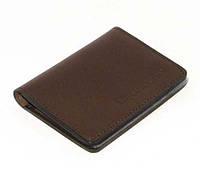 Кожаная обложка на права, биометрический паспорт, водительского удостоверения, визитница с файлами коричневая