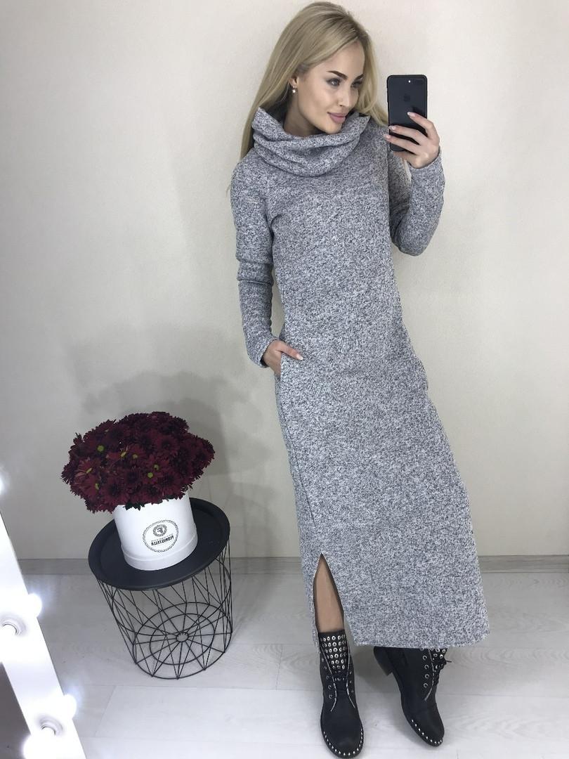 847716be9f9 Теплое макси платье  продажа
