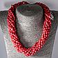 Червоний корал, комплект браслет та намисто, 053НК, фото 2