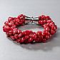 Червоний корал, комплект браслет та намисто, 053НК, фото 3