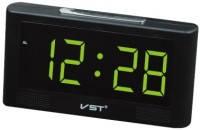 Настольные часы с будильником от сети с красной подсветкой VST-732-1