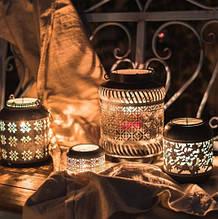Декоративна лампа в сільському стилі з кованого заліза