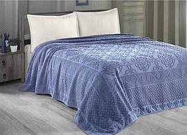 Махровая простынь-покрывало 200 х 220 см Estafan Arya AR-TR1003900-blue