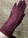 Вязание шерсти трикотаж женские перчатки  плоншете ANJELA только оптом, фото 2
