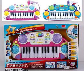 Пианино 7234 Музыкант, с музыкой и светом на батарейке