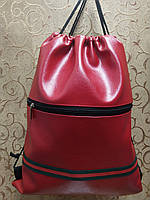 Сумка рюкзак-мешок искусств кожа(только ОПТ ) Сумка для обуви на затяжках, фото 1