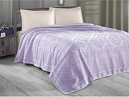 Махровая простынь-покрывало 160 х 220 см Estafan Arya AR-TR1003899-purple