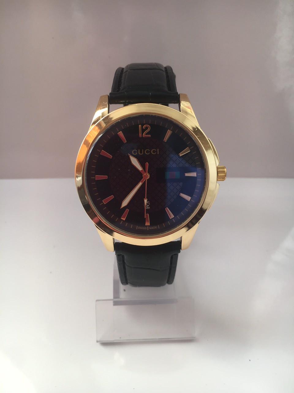Мужские наручные часы Gucci (Гуччи), золотисто-черный цвет