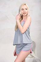 Женская пижама с шортами Sleep 1, серый